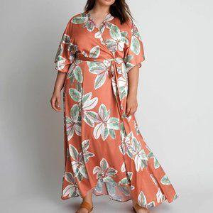 Anthropologie Bali Wrap Maxi Dress
